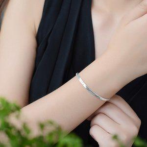 *NEW 925 Sterling Silver Snake Chain Bracelet